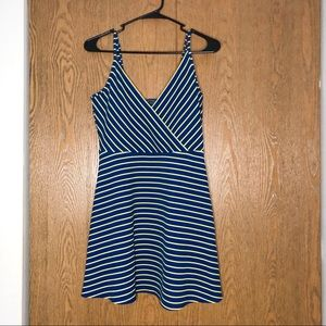 Aero Striped Skater Dress